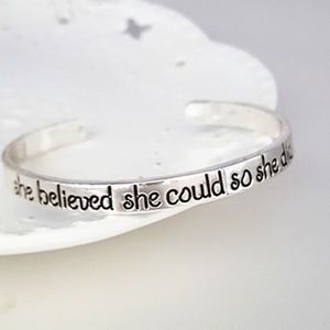 October Love Jewelry - She Believed Bangle