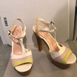 Platform high heels, sandals
