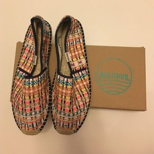 Soludos Espadrille (Metalic Plaid) US7
