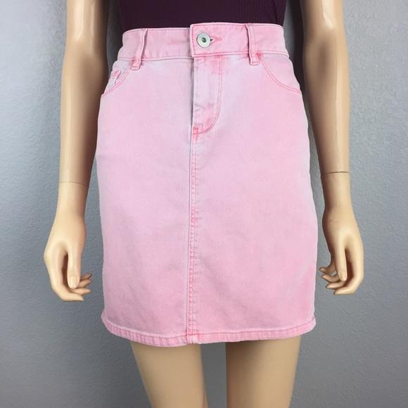 Esprit - 90s Vintage Esprit Light Pink Denim Mini Skirt from ...