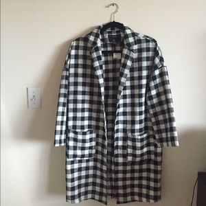 ✨SALE✨NWT checkered duster coat