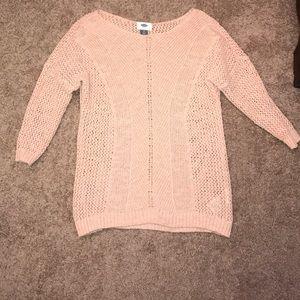 ❄️❤️❄️HOST PICK❤️❄️❤️Old Navy pink crochet sweater