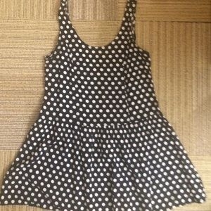 Urban outfitters black polka dot dress