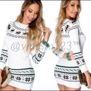 SZ XS LAST 1! Reindeer Long Warm Sweater