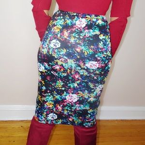 Skirts - Floral Pencil Skirt