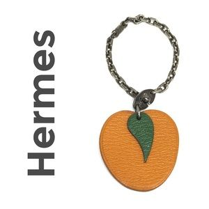 Hermes Accessories - Authentic Hermes Orange Fruit Key Chain Bag Charm