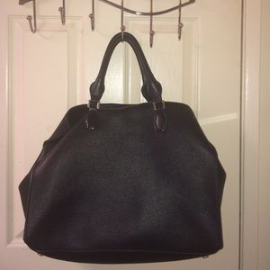 HM Leathercraft Handbags - Large Black Leather Handbag