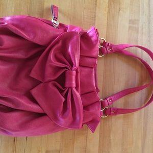 ELLE pink bow handbag
