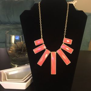 •Coral Statement Necklace•