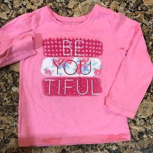 4T long sleeve pink shirt