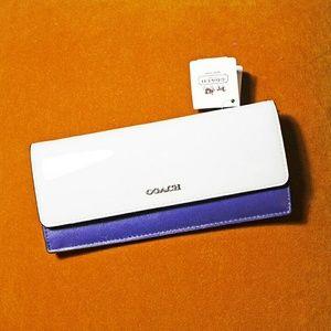 👢Coach👢Saffiano Color Block Soft Wallet