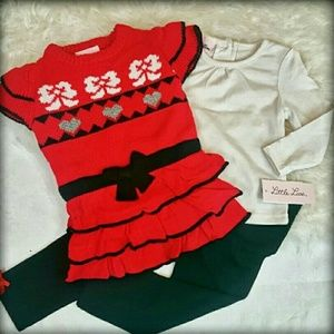 Little Lass Other - 🎯NWT Little Lass 24M Valentines Dress Outfit