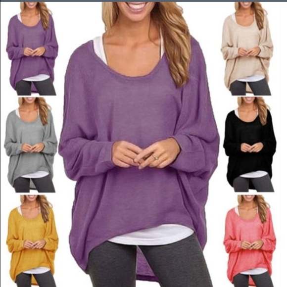 🚨SALE🚨Oversized Thin Purple Sweater M from !'s closet on Poshmark