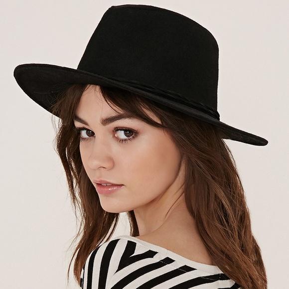 903aafe36 New. Black Wide Brim Felt Fedora Hat