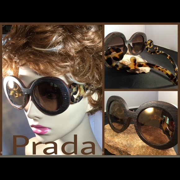 0d8b21253ab9 Authentic PRADA Canaletto Baroque Wood Sunnies  10.  M 583399726a5830601f003643