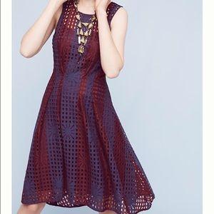 Anthro Plum Mesh Dress