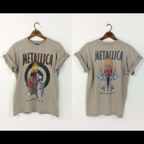 f7ba5d8b Giant Shirts | Rare 90s Vintage Metallica Shirt | Poshmark