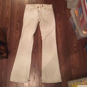 Red Engine white jeans