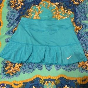 {Nike} Dri-Fit Blue Tennis Skirt