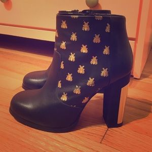 Miista Shoes - Alayna Black Leather Ankle Boots. By Miista