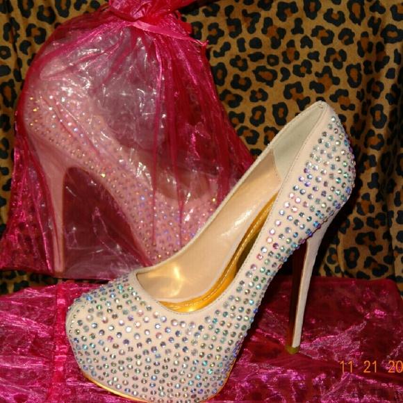 1dbeb0c8db5 Rose Pink Stone Stilettos