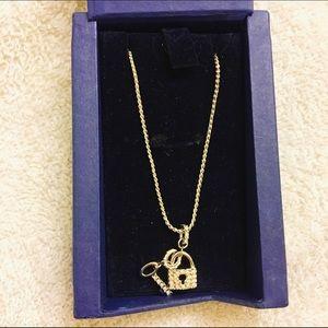 Swarovski Key and Lock Necklace  
