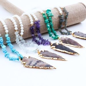 Twilight Gypsy Collective Jewelry - Amazonite Carved Arrow Necklace