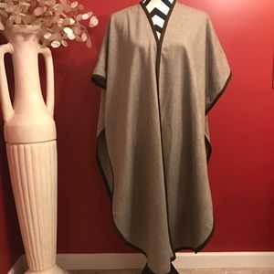 Sweaters - Vintage Brown and tan long  poncho