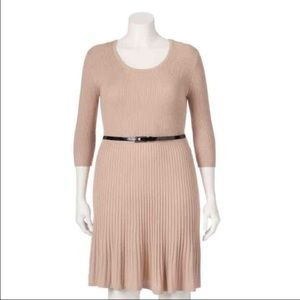 Say What? Dresses & Skirts - NEW Say What Sz 2X Plus sweater dress Beige