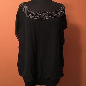 torrid Tops - Torrid chiffon blouse with embellished neckline