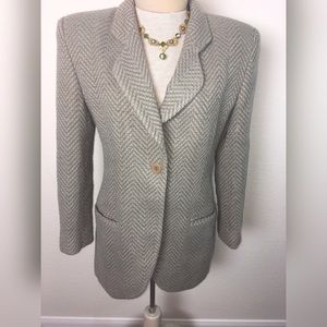 Giorgio Armani Long Tweed Blazer