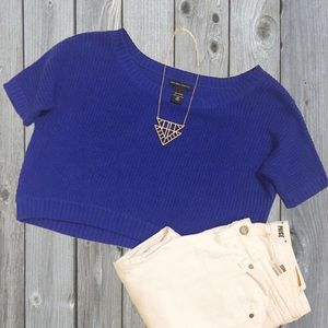 New York & Company Sweaters - SALE 🎉 Cobalt blue cropped sweater - xs LIKE NEW
