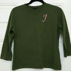 J. Crew Sweaters - 100% cashmere initial J sweater.