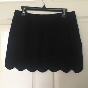 ASOS Black Scalloped Hem Mini Skirt
