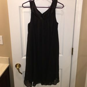 Connected Apparel  Dresses & Skirts - Like New Black Scoop Neck Tank Cocktail Dress