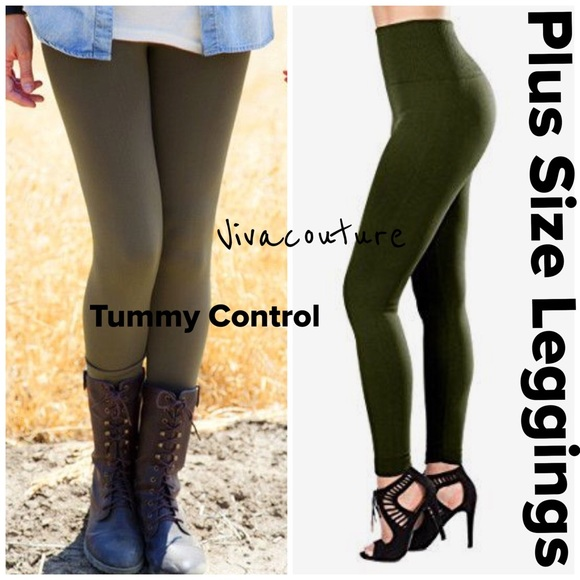cf839485bb1 Plus Size High Waist Tummy Control Leggings