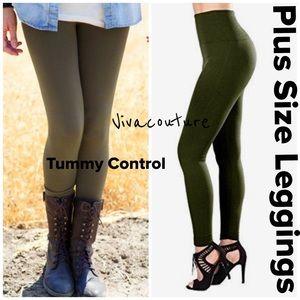 Vivacouture Pants - Plus Size High Waist Tummy Control Leggings