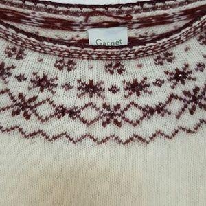 Garnet Hill Sweaters - Garnet Hill angora (rabbit hair) Christmas sweater