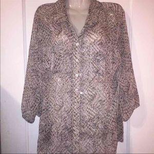 Chico's Tops - Chicos printed dropwaist blouse sz 2