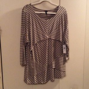 Allie & Rob Tops - Striped Flowing Top