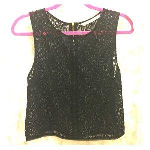 Rachel Roy Black Lace Top
