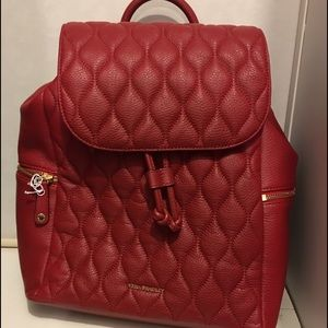 NWT VERA BRADLEY LEATHER AMY BACKPACK TANGO RED