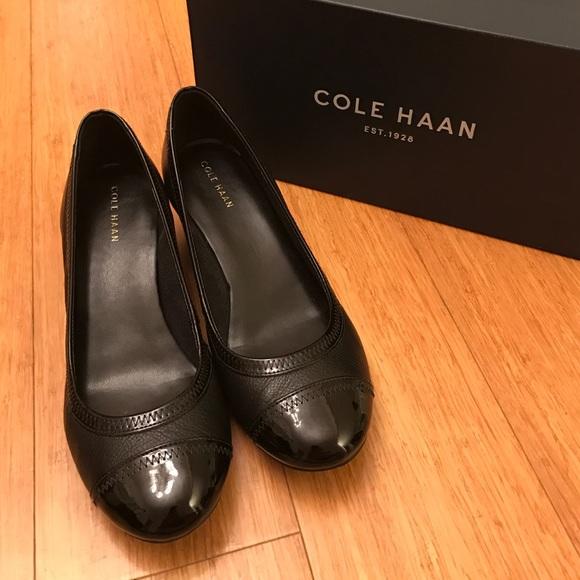 1eac783bd3be Cole Haan Shoes - 👠 Cole Haan 👠Elsie Cap Toe Wedge Black 7.5