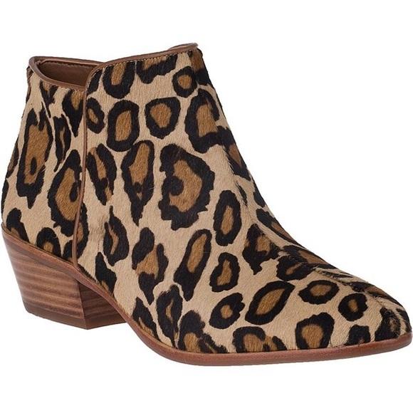 e6414bce0 SAM EDELMAN Petty Ankle Boot Leopard Hair Calf. M 5833f23e78b31cb2ee0110c2