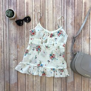 Jack by BB Dakota Tops - JACK by BB Dakota Floral Peplum & Ruffle Tank