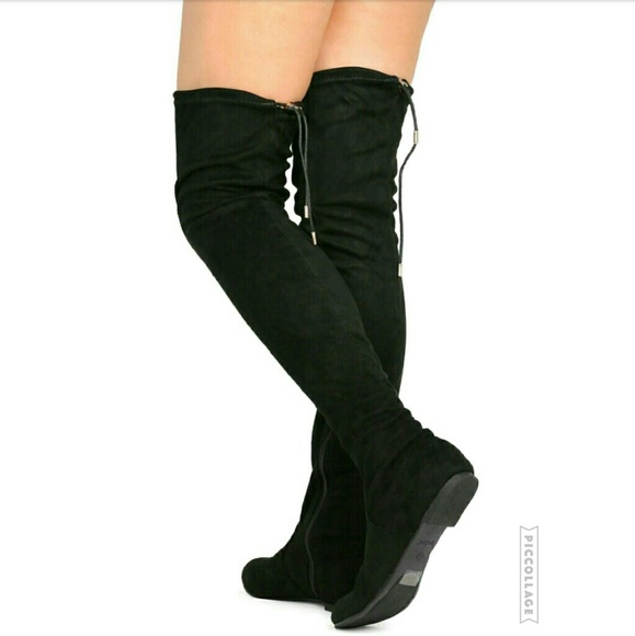 e4c38e43241c Suede Over the Knee Boots   Flat Heel. M 583eab6256b2d639f70478d9