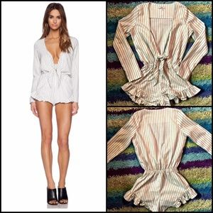 Revolve Clothing ASILIO Striped Romper Jumper