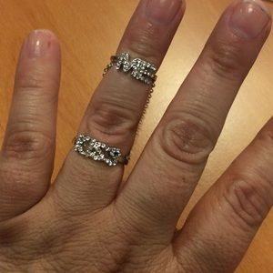 Jewelry - New Kiss and Me Double Ring - Size 6 & 3