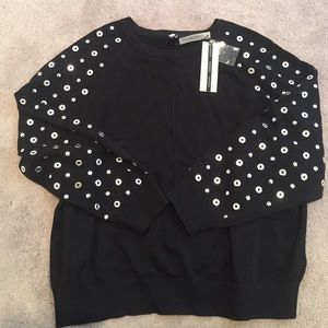 Topshop Sweaters - Top shop eyelet stud sweater