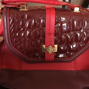 Red maroon cross body